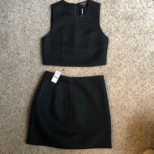 Express Two piece dress, cropped top with skirt